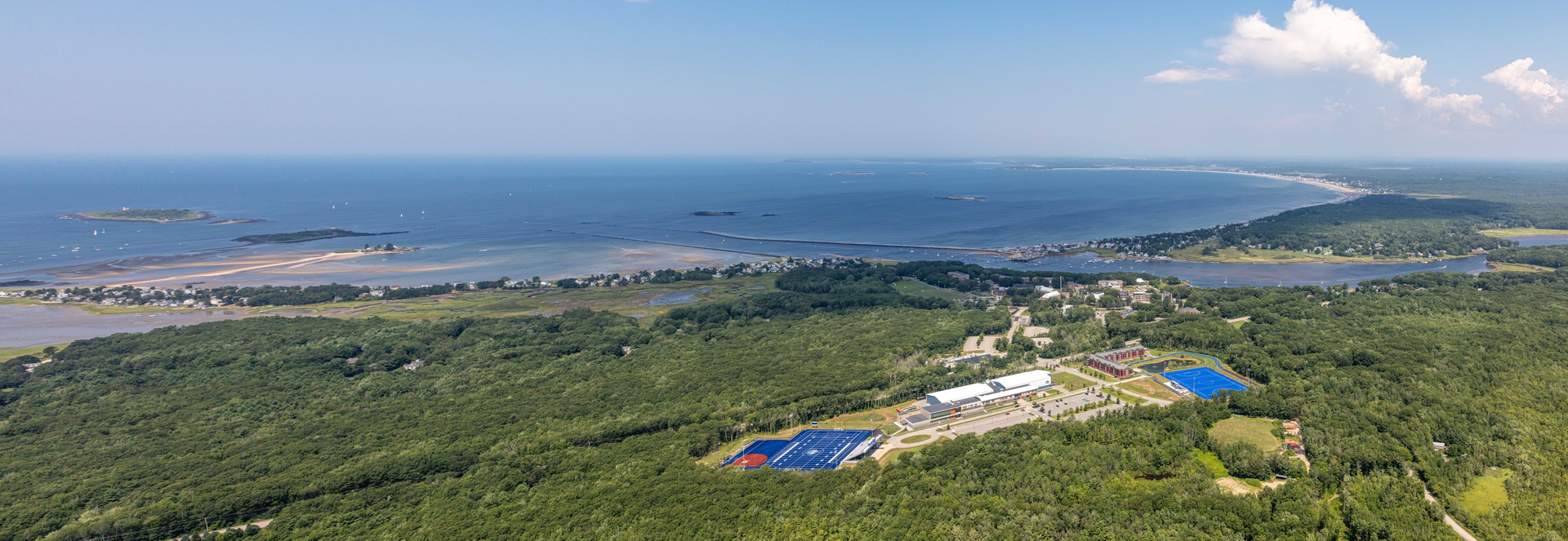 Arial view of the Biddeford campus