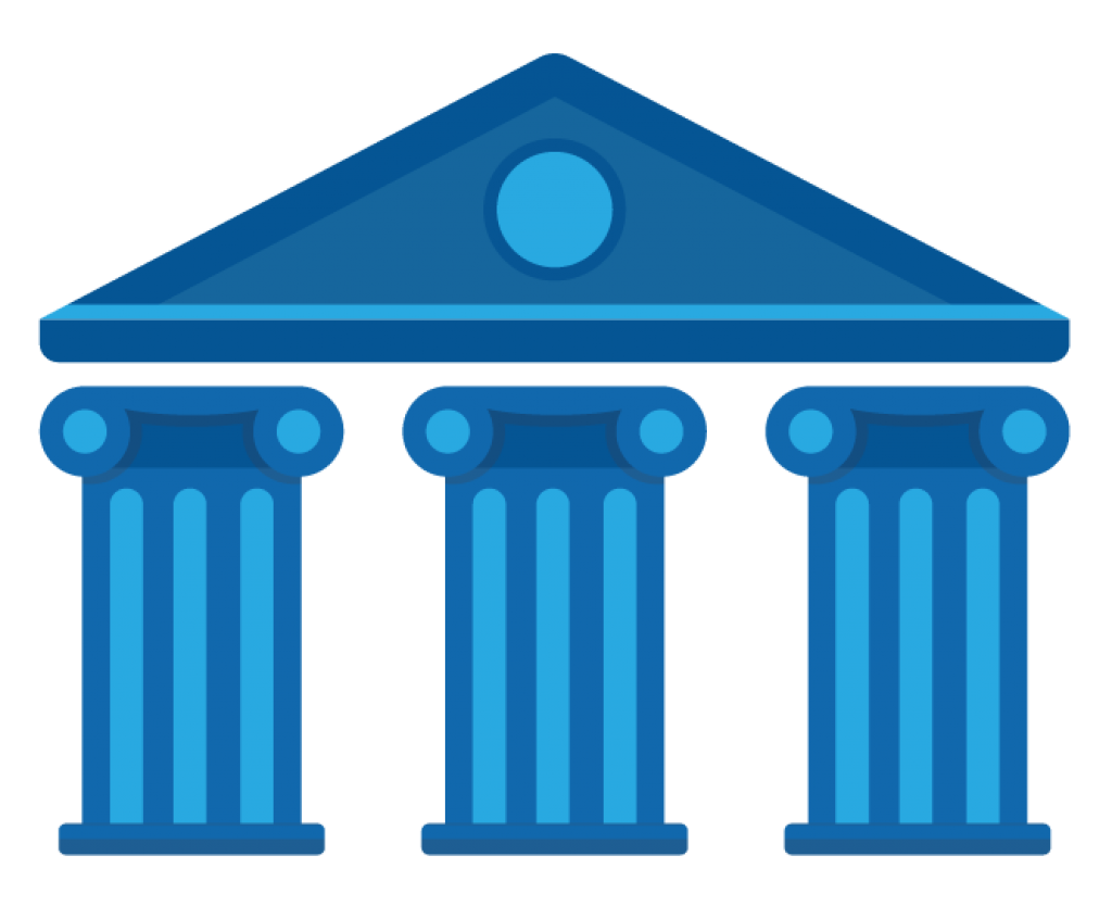 graphic of pillars