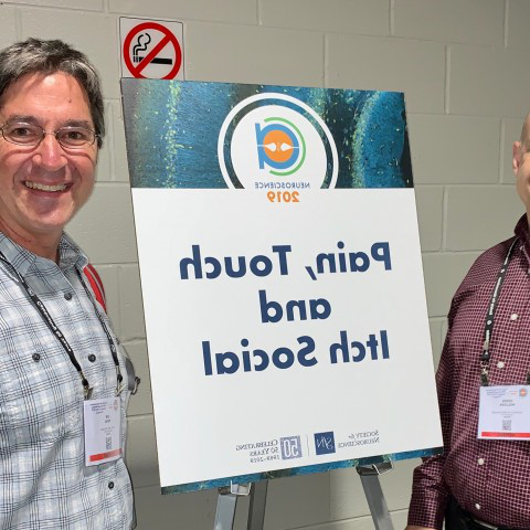 Derek Molliver and Ian Meng of UNE's Department of Biomedical Sciences at world's the largest gathering of neuroscientists
